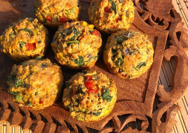 Easiest Way to Make Ultimate Savory Veggie Muffins