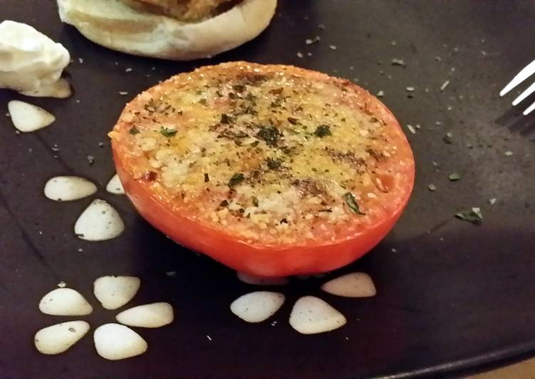 Recipe of Favorite low calorie baked parmasean tomatoes