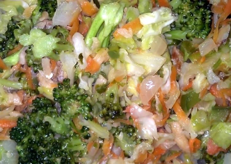 Steamed Cod fish salad
