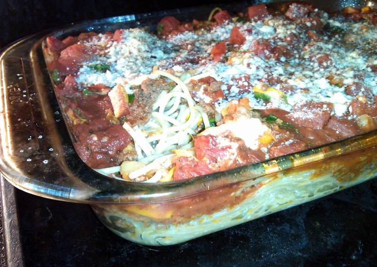 Roasted vegetable spaghetti bake