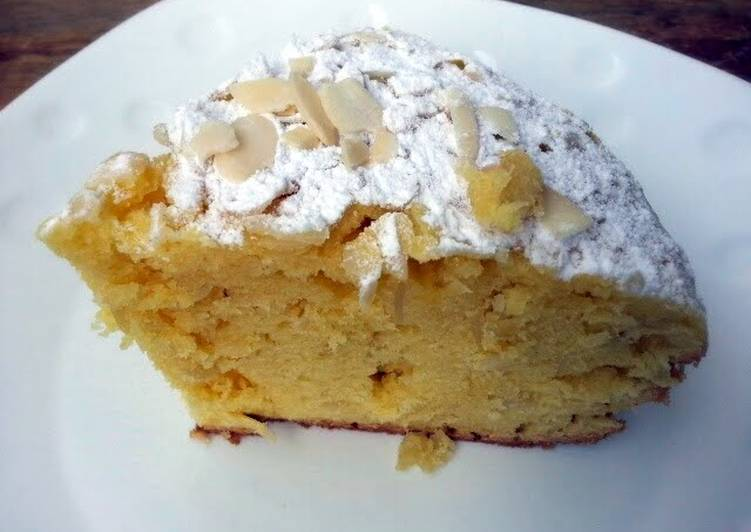 Steps to Make Ultimate Almond Cake Top Icing Sugar
