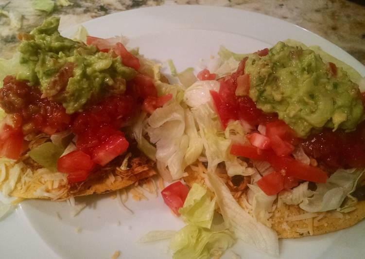Easy Homemade Chicken Tostadas Recipe