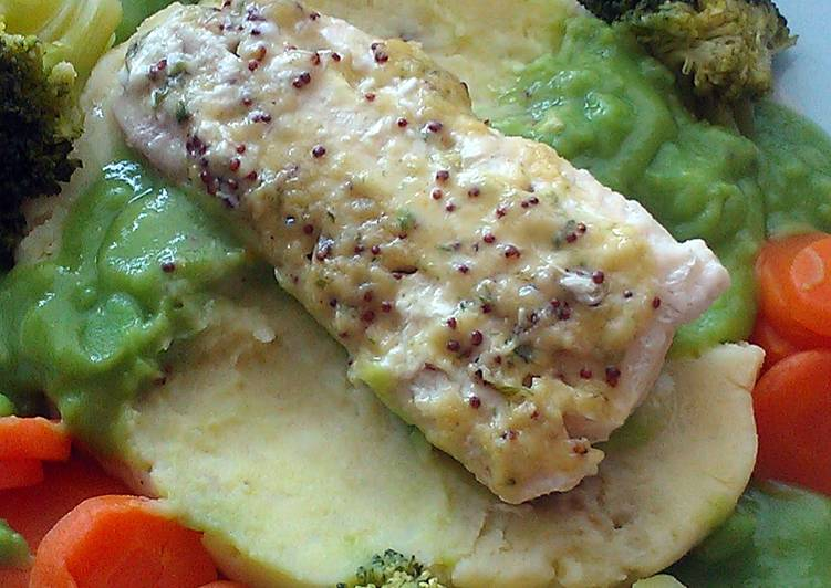 Vickys Poached Cod with Mustard Sauce, Gluten, Dairy, Egg & Soy-Free