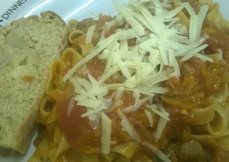 Recipe of Homemade Vegetarian bolognese