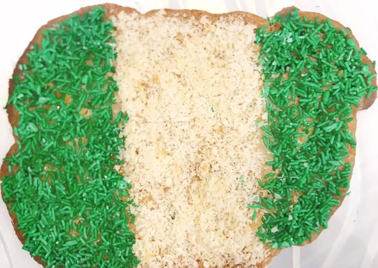 Chocolate cookie Nigerian flag