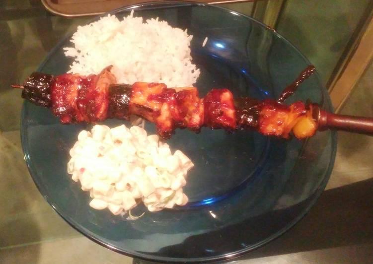 20 Minute Dinner Ideas Spring Hawaiian Chicken Kebabs