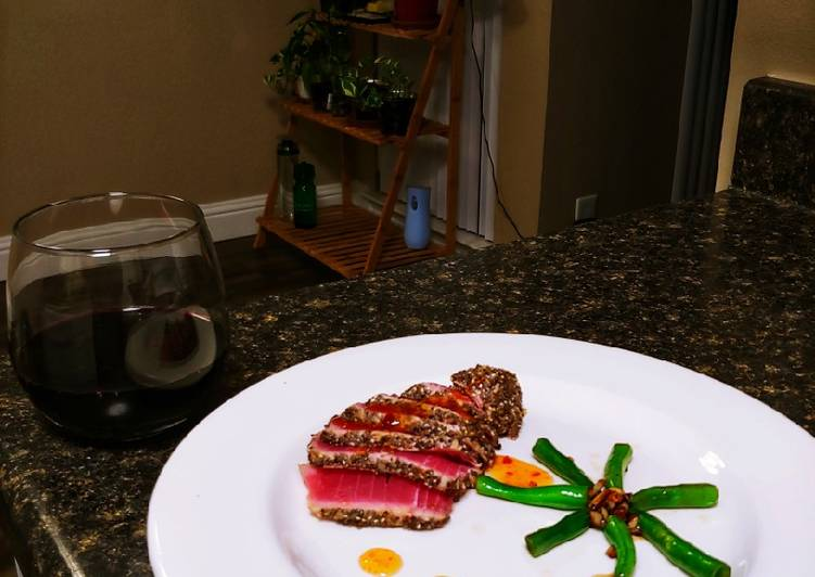 Chia Seed Crusted Ahi Tuna