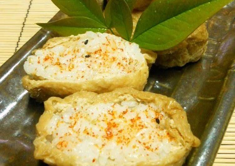 Inari Sushi with a Twist - Spicy Inari Sushi - Laurie G Edwards