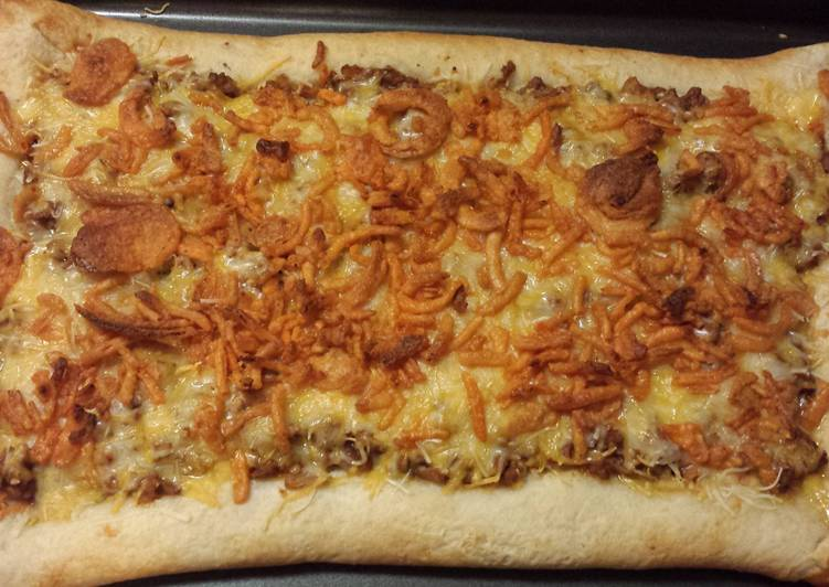 Sloppy Joe Pizza (stuffed crust)