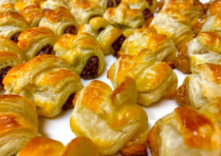 Petite Chocolate & Peanut Butter Croissants