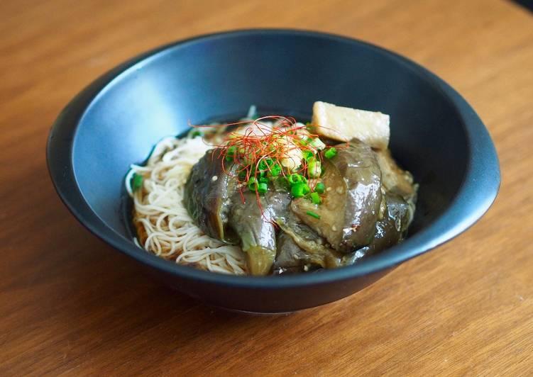 NASU SOMEN (Simmered Eggplant and SOMEN noodle)