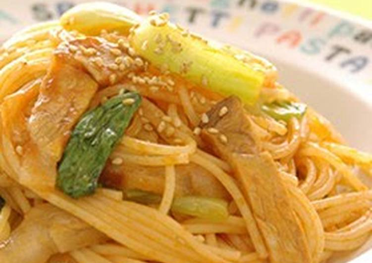 How to Make Favorite Sesame Flavored Chinese Spaghetti Napolitan