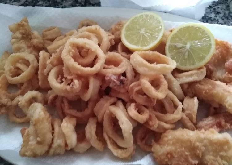 Ricetta Frittura di calamari e baccalà in pastella