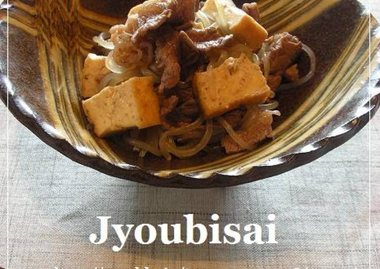 Simple Way to Make Speedy Stewed Beef and Shirataki Noodles with Ginger