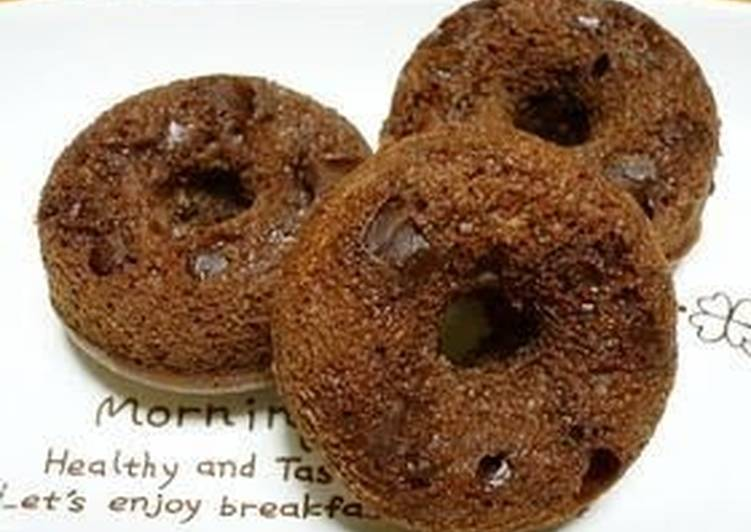 Recipe of Perfect Fluffy, Rich Baked Chocolate Donuts With Pancake Mix