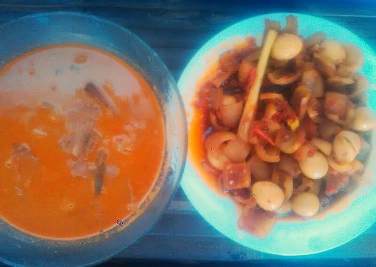 Resep Kikil telur puyuh masak kecap pedas yummy Anti Gagal
