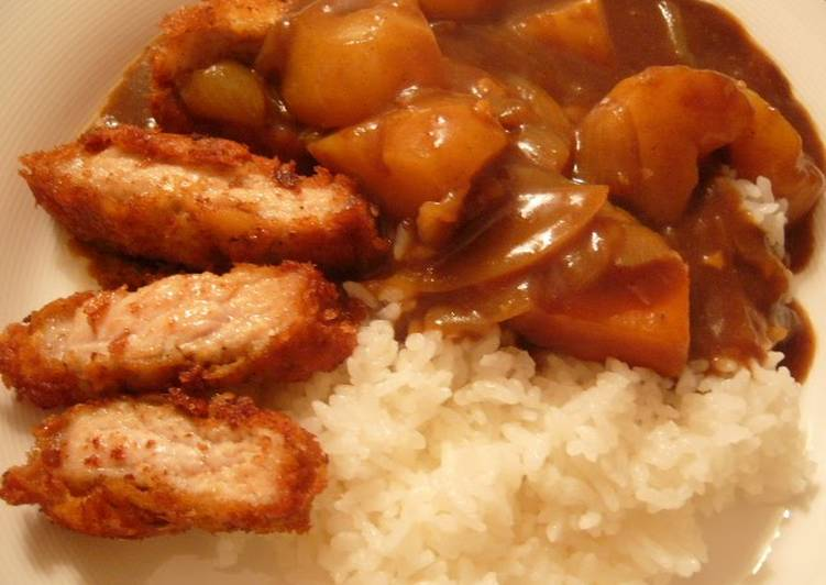 Filling Pork Cutlet Curry Finding Healthful Fast Food