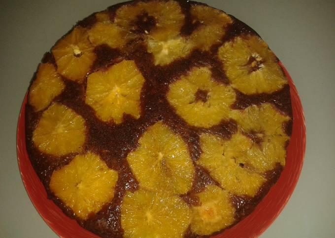 Orange Upside Down Cocoa Cake