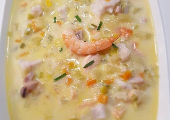 Chowder (Soupe de poissons Irlandaise)