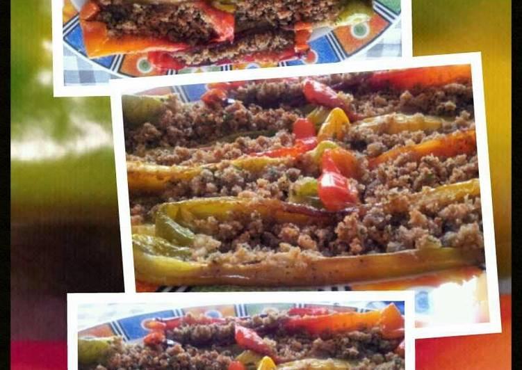 5 Minute Recipe of Winter AMIEs PEPERONI AMMOLLICATI (Peppers Stuffed w/Breadcrumbs & Parsley)