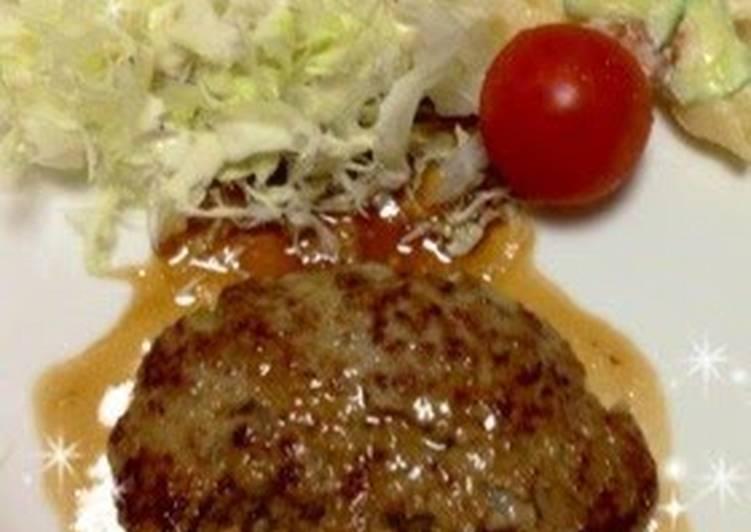Juicy Hamburger Steak in Steak Sauce