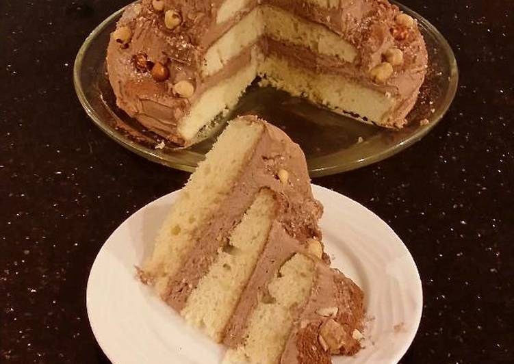 Hazelnut Layer Cake with Hazelnut Cream Frosting