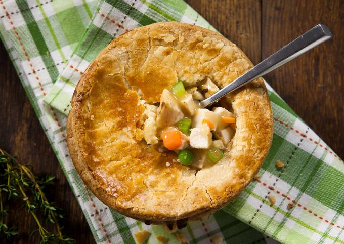 Salmon Fillet and Seafood Pot Pie