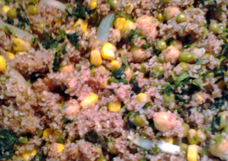 Simple Way to Prepare Super Quick Homemade bulgur and vegetables
