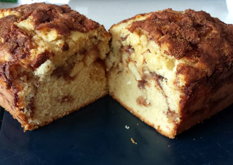 Step-by-Step Guide to Prepare Any-night-of-the-week Devine Apple Cinnamon Loaf