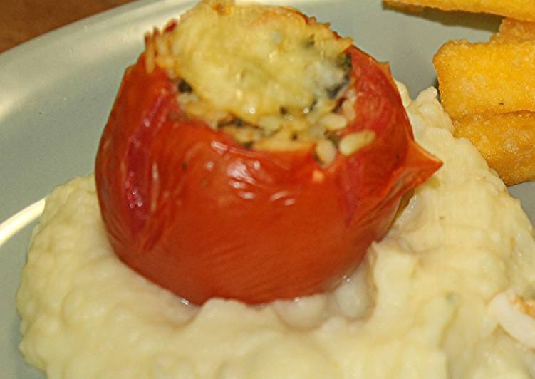Foods That Make Your Mood Better MOROCCAN STUFFED TOMATOES with CREAMY POTATO PUREE
