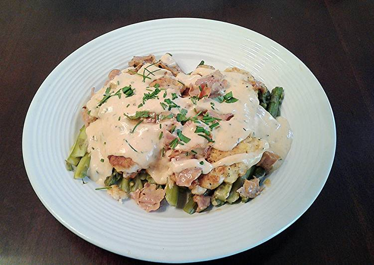 Recipe of Ultimate Chicken with Asparagus,, Ham and Bearnaise Sauce