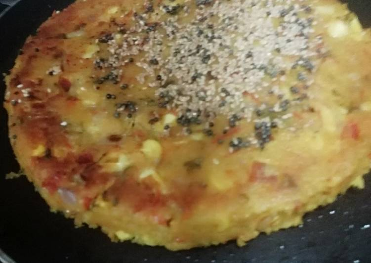 Corn and Poha Cake - Laurie G Edwards