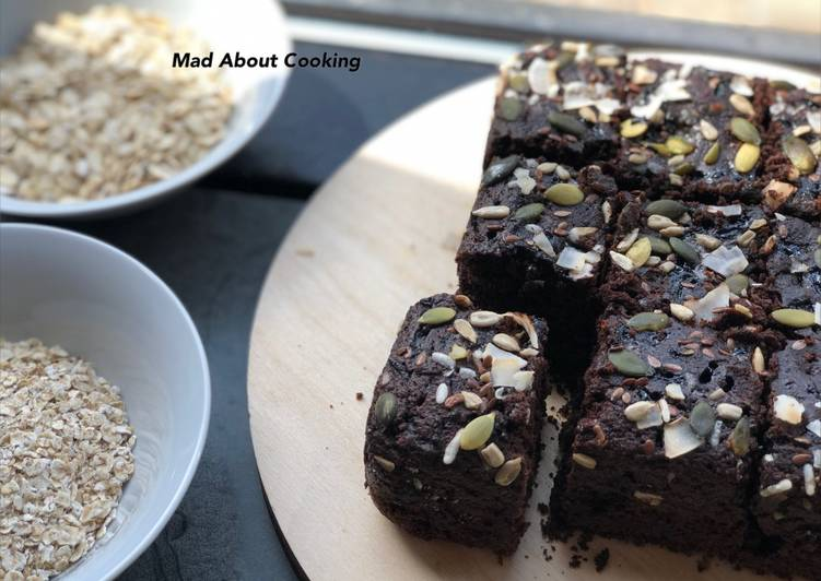 Oats Chocolate Brownies | Eggless No Butter Chocolate Treat |Chocolate Treat
