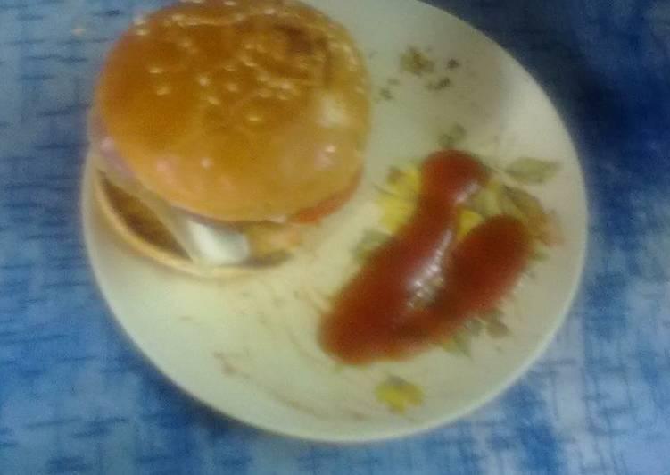 Indian style potato burger