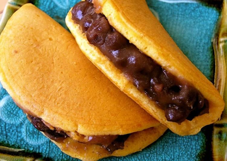 Steps to Prepare Award-winning Dorayaki with Pancake Mix (Anko and Butter)