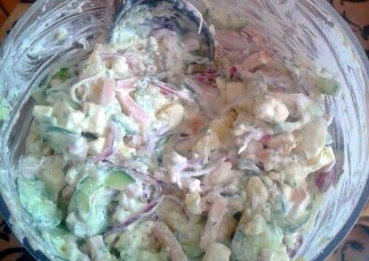 Greek style potato salade