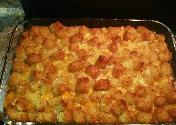 Easiest Way to Cook Tasty Giddy-Up Tator Tot Casserole