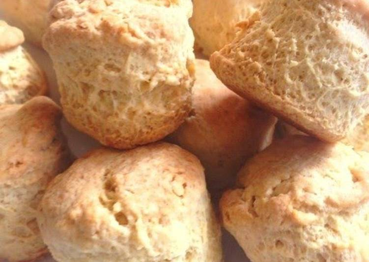 Simple Soy Milk Scones with Pancake Mix