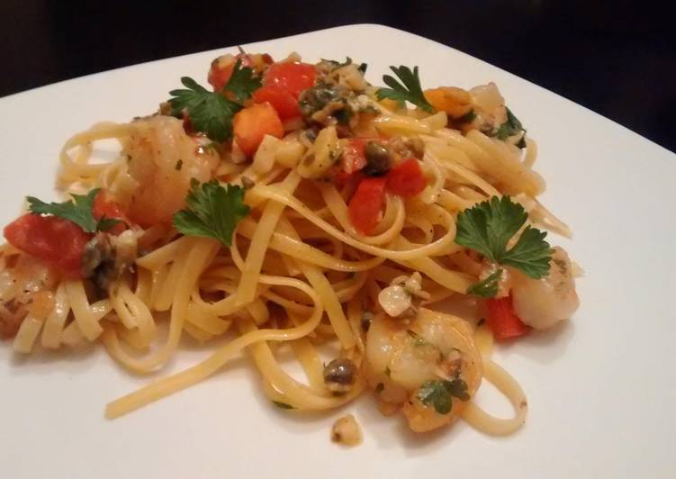 How to Prepare Perfect Shrimp scampi & linguine