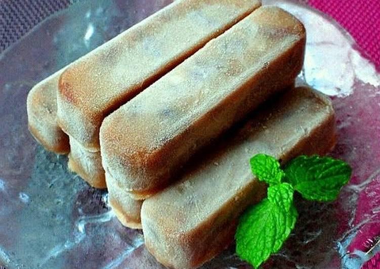 15 Minute Recipe of Winter Rich Azuki Bean Ice Cream Bars