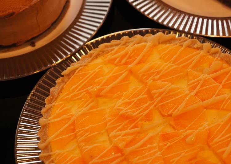 Persimmon & Mandarin Orange No-Bake Tart