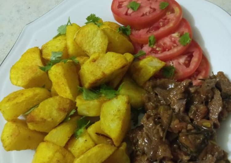 Recipe of Perfect Tumeric baked potatoes