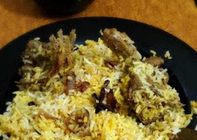 Awadhi Mutton Biriyani (easy way to make awadhi biriyani at home)