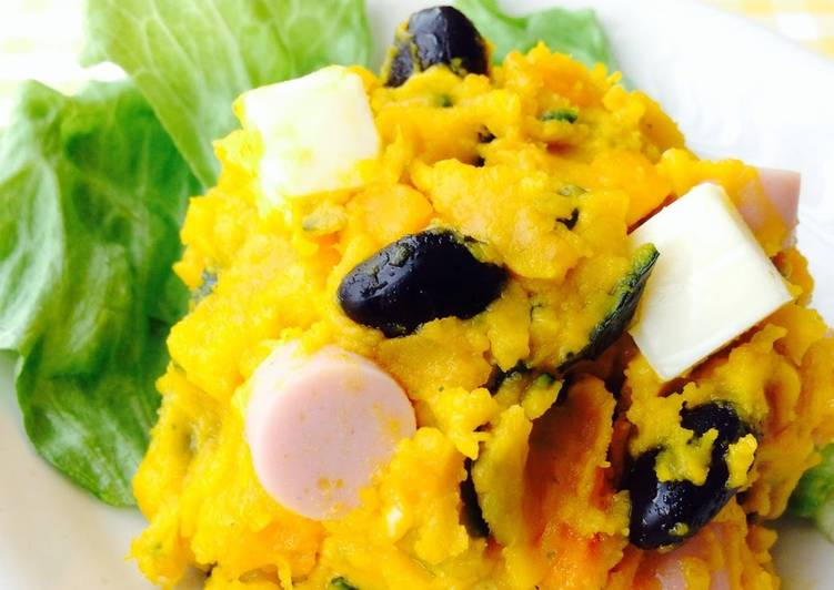 How to Make Appetizing Easily Made in the Microwave!! Kabocha Squash Salad