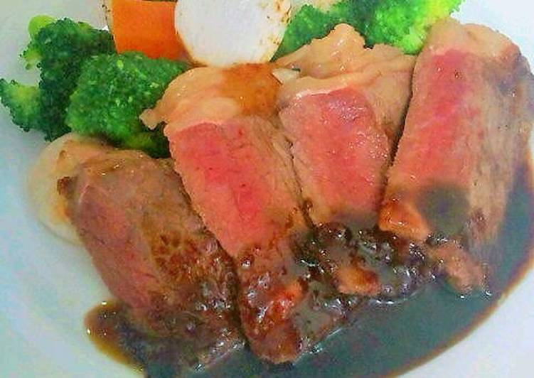 Beef Steak with the Perfect Sauce