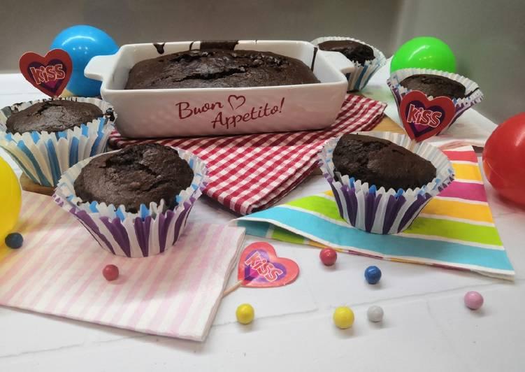 Glutén és tejmentes csokis muffin recept foto
