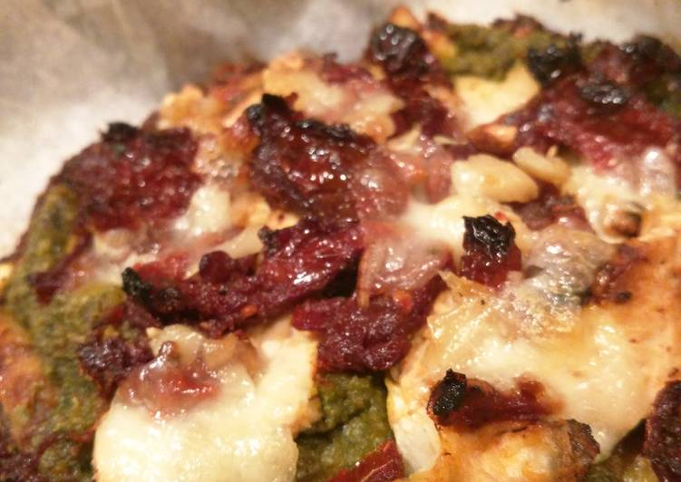 Recipe of Top-Rated Cauliflower Crust Spinach White Pizza