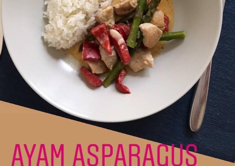 Ayam Asparagus Paprika kuah santan