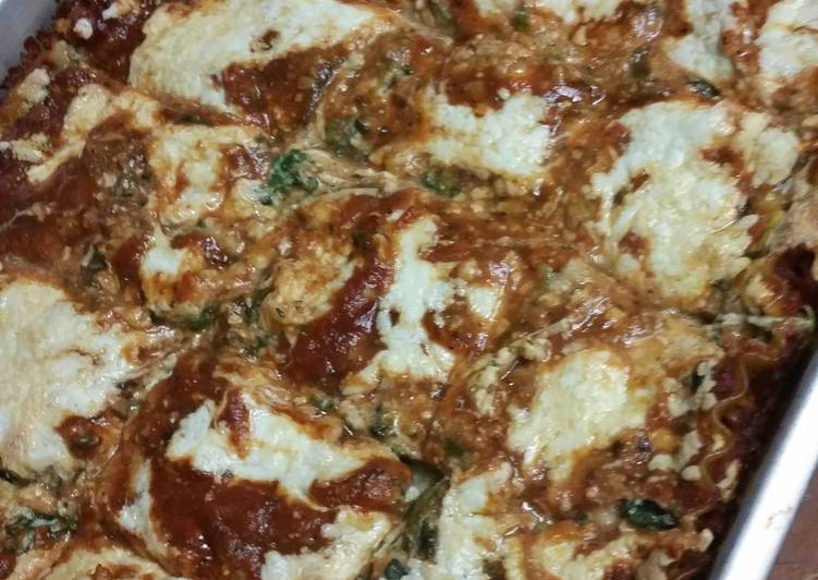 Jennys spinach lasagna with love