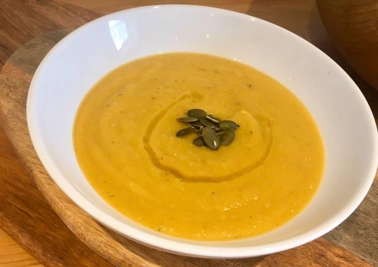 Roast Butternut Squash and Lentil Soup